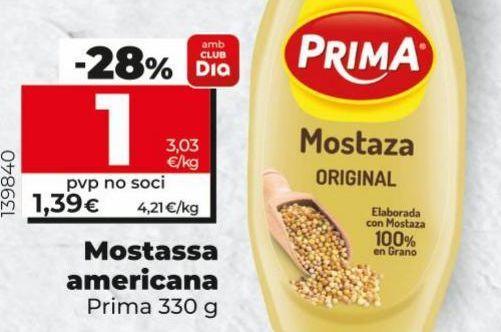 Oferta de Mostaza Prima por 1€