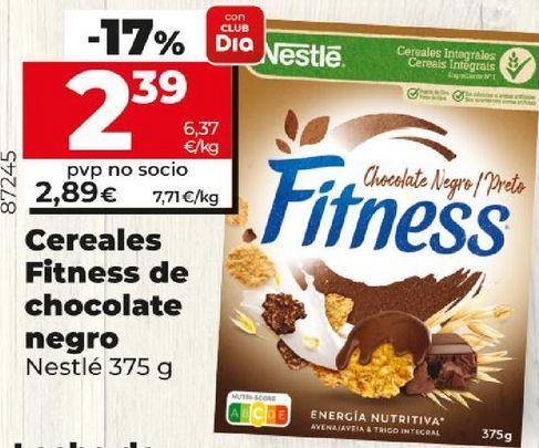 Oferta de Cereales Fitness de chocolate negro Nestlé por 2,89€