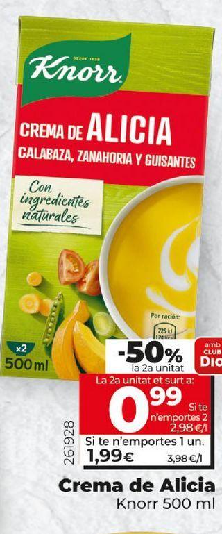 Oferta de Crema de alicia Knorr por 1,99€