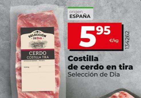 Oferta de Costillas de cerdo por 5,95€