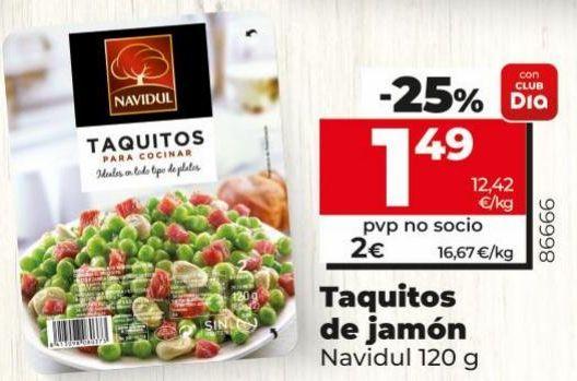 Oferta de Tacos de jamón Navidul por 1,49€