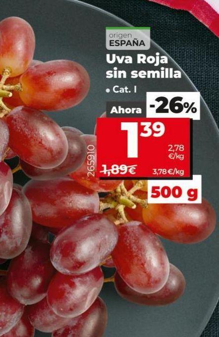 Oferta de Uvas por 1,39€