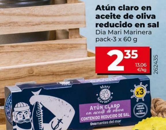 Oferta de Atún claro Dia por 2,35€