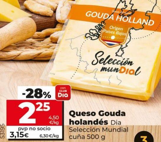 Oferta de Queso holandés por 2,25€
