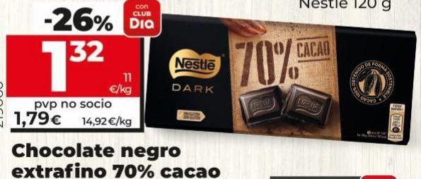 Oferta de Chocolate negro Nestlé por 1,32€