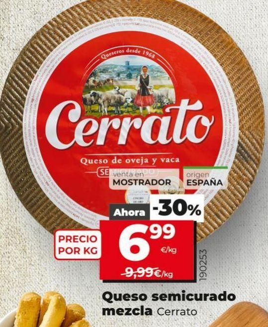 Oferta de Queso semicurado Cerrato por 6,99€