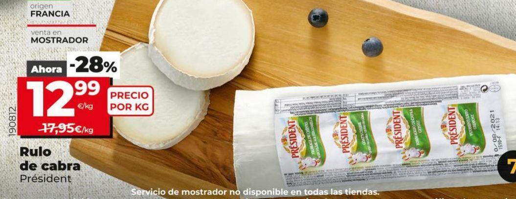 Oferta de Rulo de queso de cabra Président por 12,99€