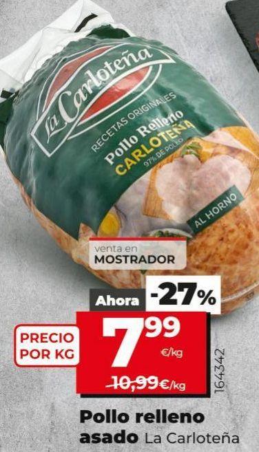 Oferta de Pollo relleno La Carloteña por 7,99€