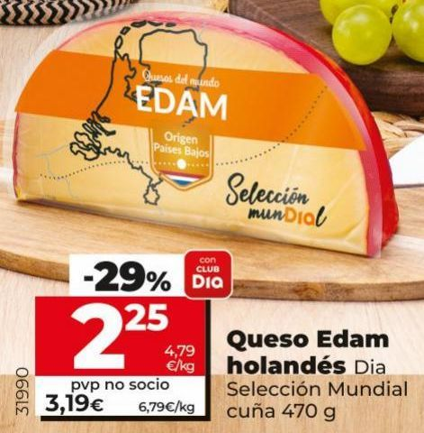 Oferta de Queso edam por 2,25€