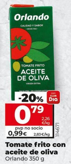 Oferta de Tomate frito Orlando por 0,79€