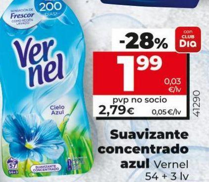 Oferta de Suavizante Vernel por 1,99€