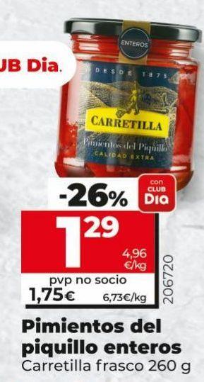 Oferta de Pimientos del piquillo Carretilla por 1,29€