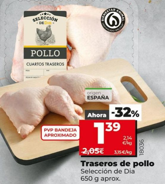 Oferta de Traseros de pollo por 1,39€
