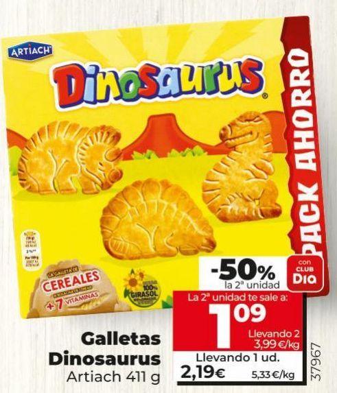 Oferta de Galletas Dinosaurus Artiach por 2,19€