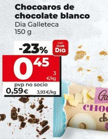 Oferta de Galletas de chocolate por 0,45€