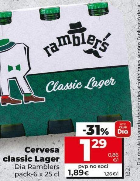 Oferta de Cerveza Dia por 1,29€