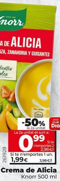 Oferta de Crema de verduras Knorr por 1,99€