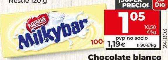 Oferta de Chocolate blanco Nestlé por 1,05€