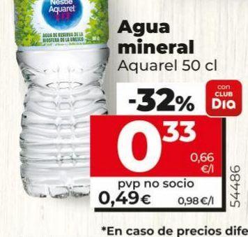 Oferta de Agua mineral Aquarel por 0,33€