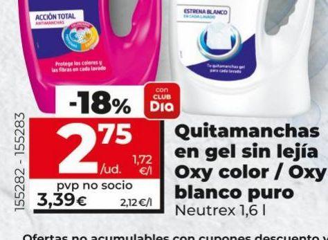 Oferta de Quitamanchas en gel sin lejía  Neutrex por 2,75€