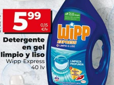 Oferta de Detergente gel WiPP Express por 5,99€