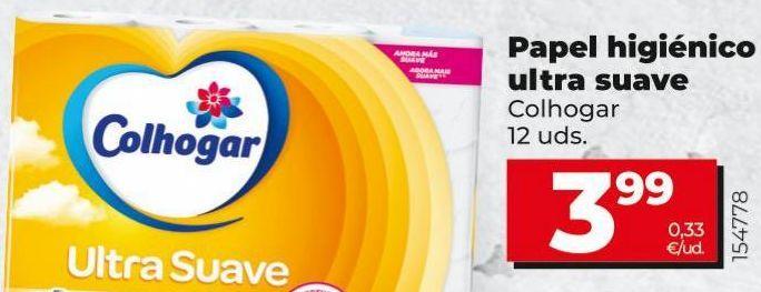 Oferta de Papel higiénico Colhogar por 3,99€