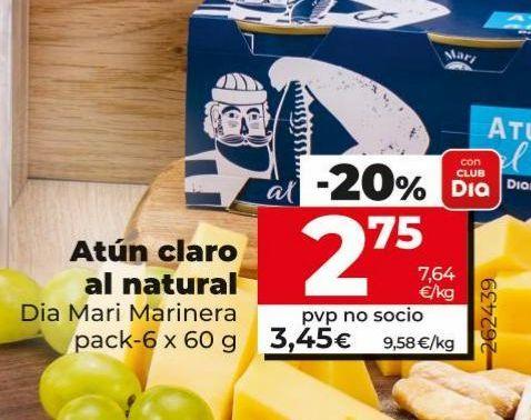 Oferta de Atún claro al natural  Dia por 2,75€