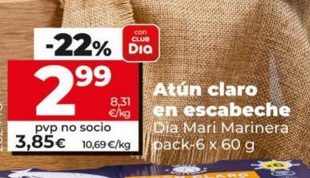Oferta de Atún claro en escabeche  Dia por 2,99€
