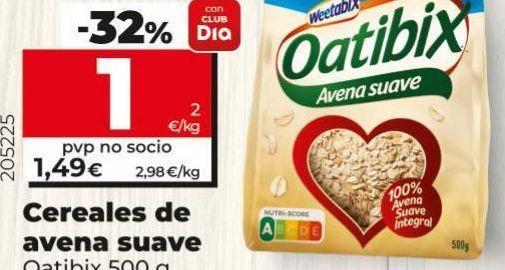 Oferta de Cereales de avena suave Oakley por 1€