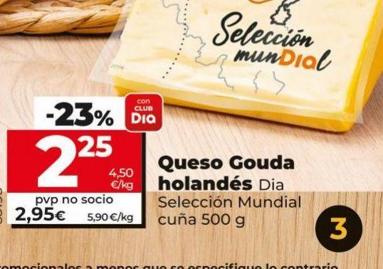 Oferta de Queso gouda holandés Dia por 2,25€