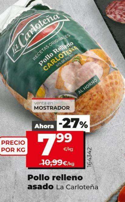 Oferta de Pollo relleno asado La Carloteña por 7,99€