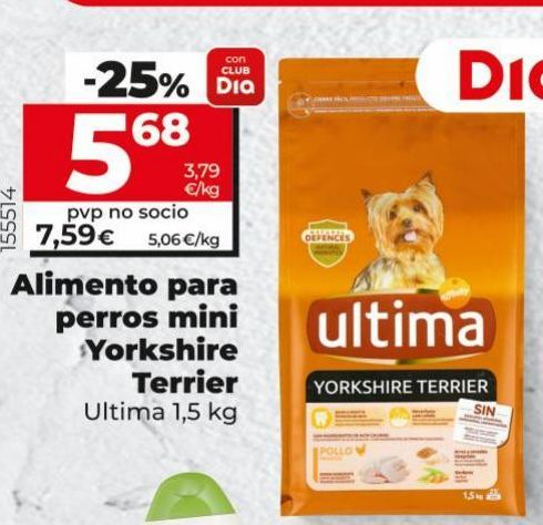 Oferta de Comida para perros Última por 5,68€