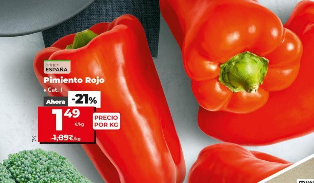 Oferta de Pimientos rojos por 1,49€