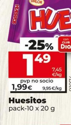 Oferta de Huesitos Valor  por 1,49€