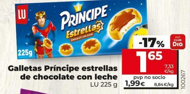 Oferta de Galletas Príncipe Lu por 1,65€