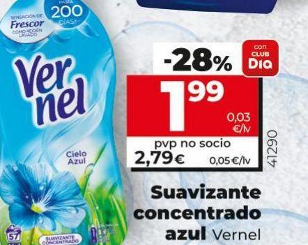 Oferta de Suavizante concentrado  Vernel por 1,99€