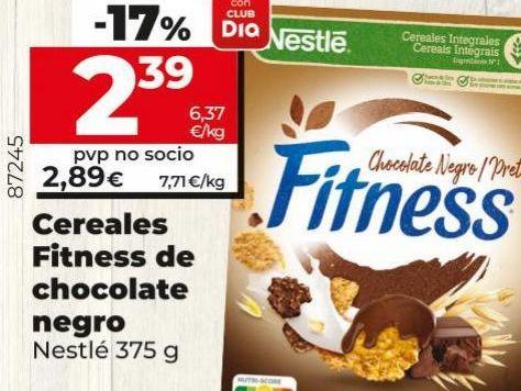 Oferta de Cereales Fitness de chocolate negro Nestle  por 2,39€