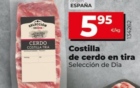 Oferta de Costillas de cerdo en tira Dia  por 5,95€