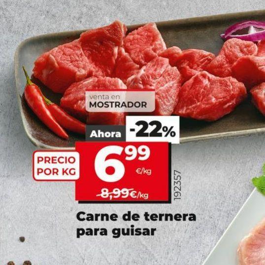 Oferta de Carne de ternera para guisar por 6,99€
