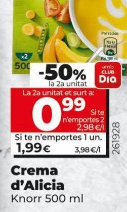 Oferta de Cremas de alicia Knorr por 1,99€