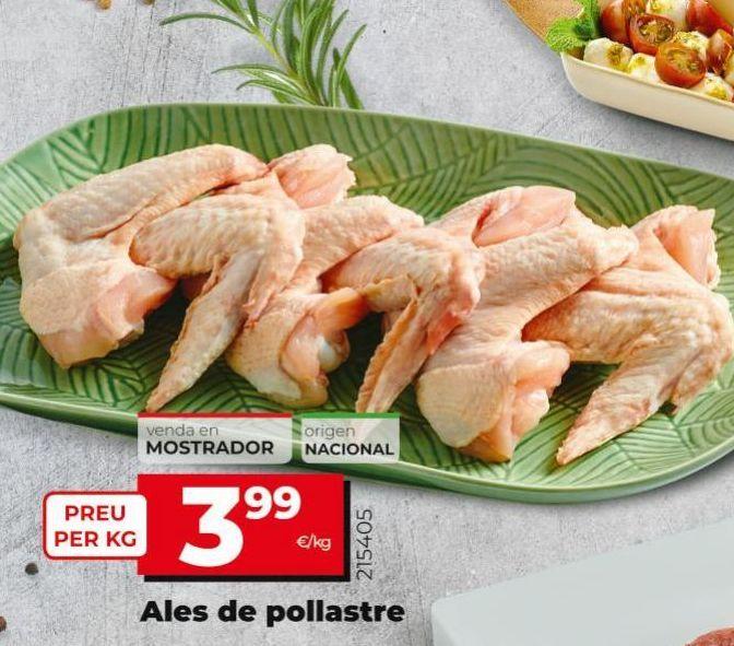Oferta de Alas de pollo por 3,99€