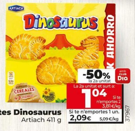 Oferta de Galletas Dinosaurus Artiach por 2,09€