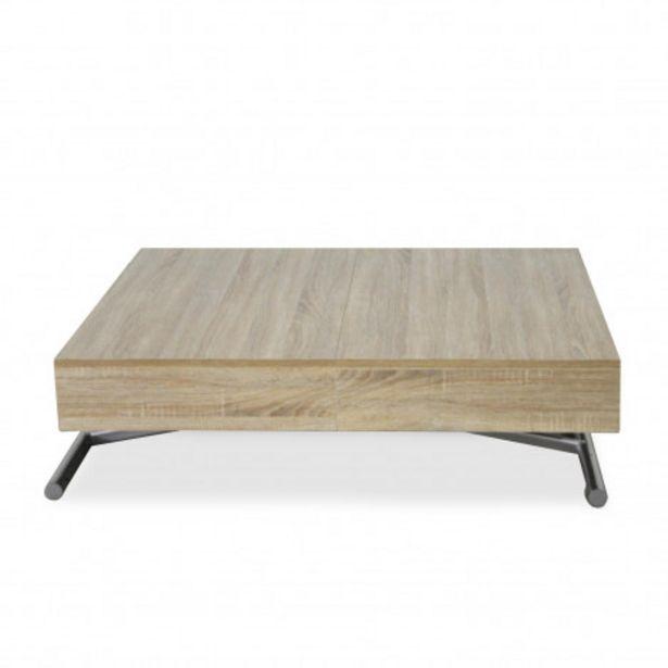 Oferta de Mesa elevable y extensible Sundance, madera roble claro por 15€