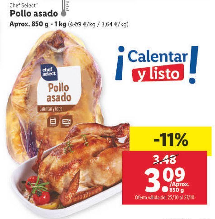 Oferta de Pollo asado chef select por 3,09€