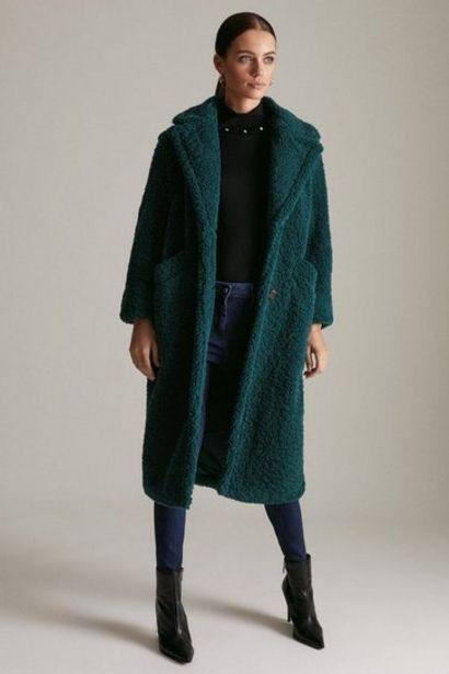 Oferta de Petite Longline Borg Coat por 156€