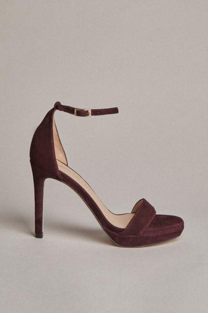 Oferta de Suede Square Toe Platform Sandal por 167,2€