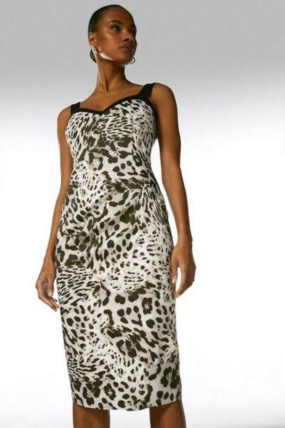 Oferta de Italian Signature Stretch Leopard Print Dress por 228€