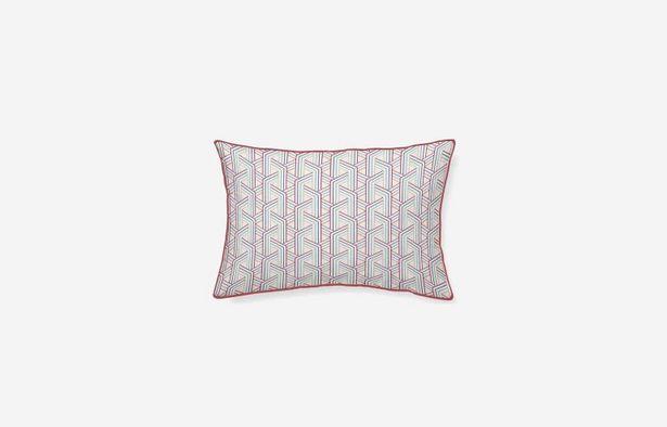 Oferta de Cojín algodón Laredo burdeos 45x30 cm por 19,9€