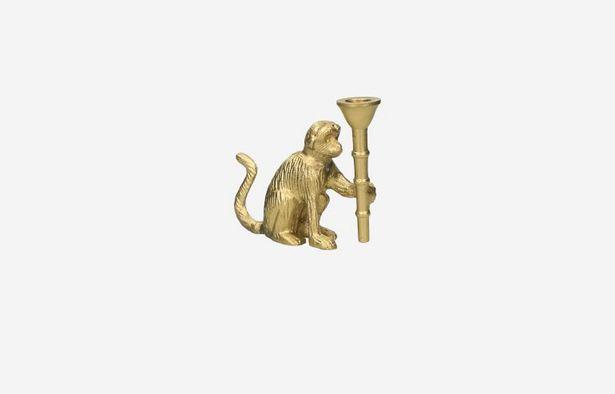 Oferta de Candelabro Mono dorado por 11,99€