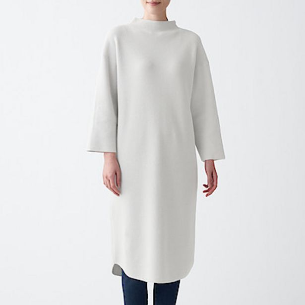 Oferta de Vestido de fibra ligera con cuello mock por 48,95€